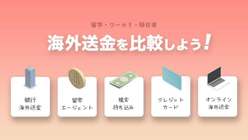 海外送金の一番安い方法を比較
